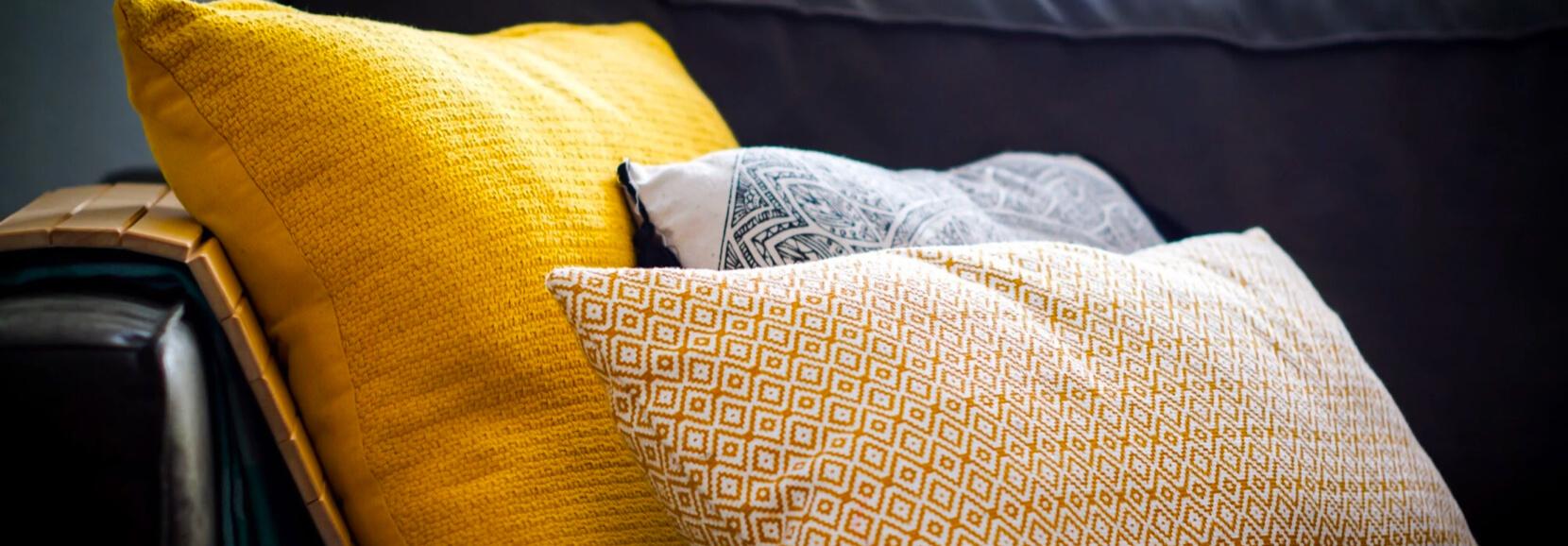 assortment of cushions