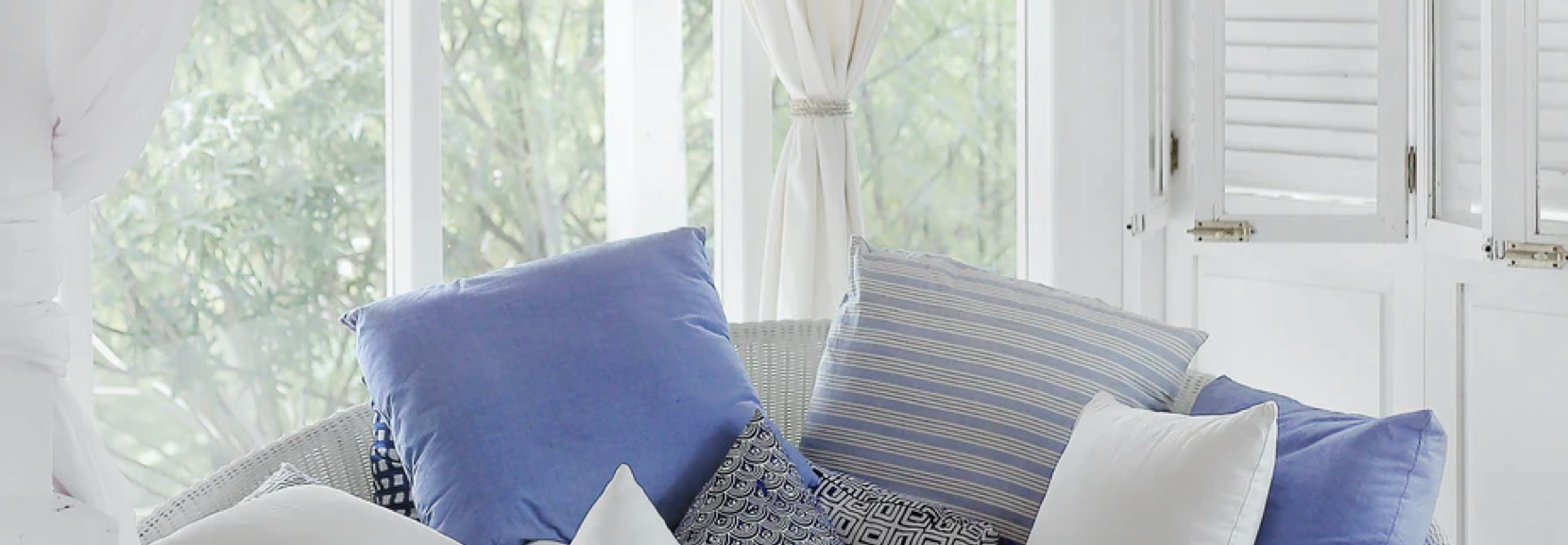 image of curtains and cushions